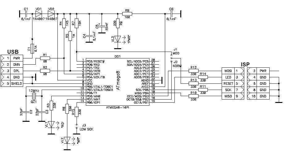 AVR и AT89S, совместимый с