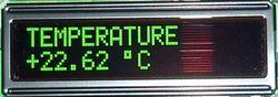 Индикация температуры
