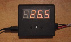 Простой цифровой термометр термостат