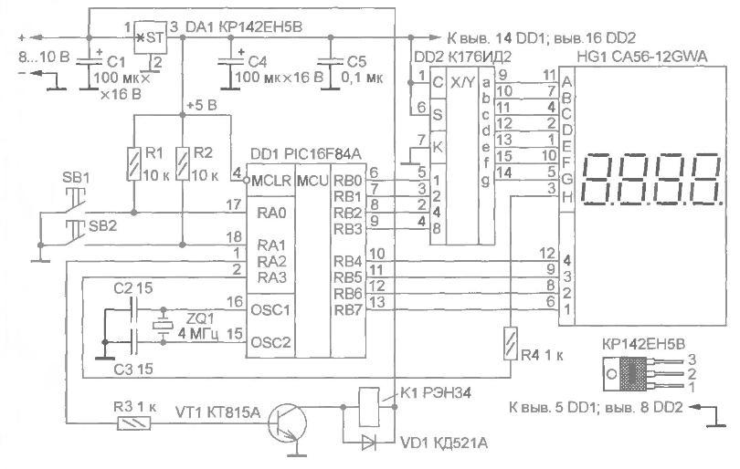 цифровой индикатор HG1 и