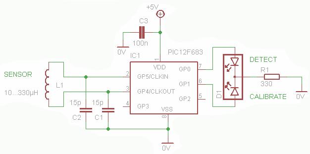 Простой металлодетектор -схема